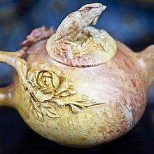 亂太郎*****天然壽山石精雕  茶壺 特價 5500元
