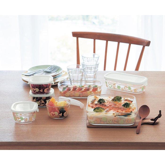 迪士尼Disney《預購》米奇 耐熱玻璃 可微波 可烤箱 可機洗 食物保鮮盒~7個一組~日本正品~心心小舖