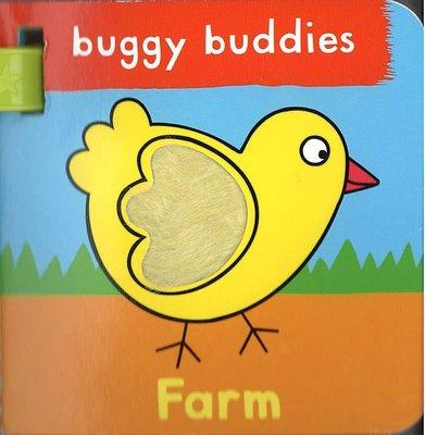 *小貝比的家*TOUCH & FEEL BUGGY BUDDIES:FARMS/寶寶扣環小書 /硬頁書/0~2歲