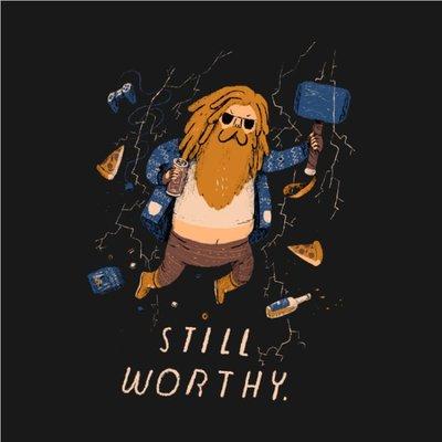 [ Satisfaction ] 美國品牌Teepublic電影卡通滿版T Thor索爾I'm still worthy