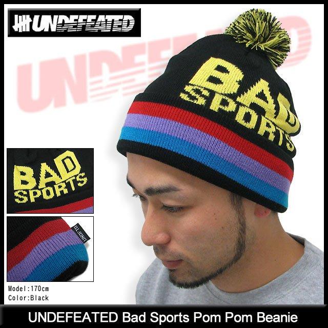 2fdfd7388 【YOYOGI PLUS】UNDEFEATED Bad Sports Pom Pom Beanie 毛帽