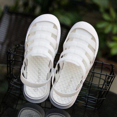 洞洞鞋 包頭涼鞋女夏防滑軟底護士白色洞洞鞋鏤空透氣少女學生拖鞋 限時搶購
