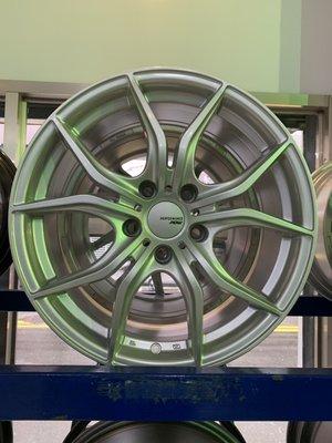CR輪業 全新 北德文 2219 17吋鋁圈 5/114 高亮銀 完工價3500
