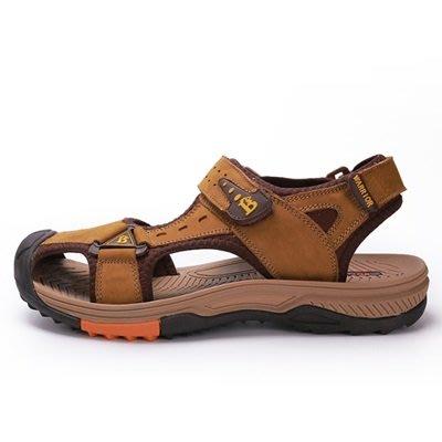 涼 鞋 真皮拖鞋-柔軟舒適休閒包頭男鞋子4色73sa13[獨家進口][米蘭精品]