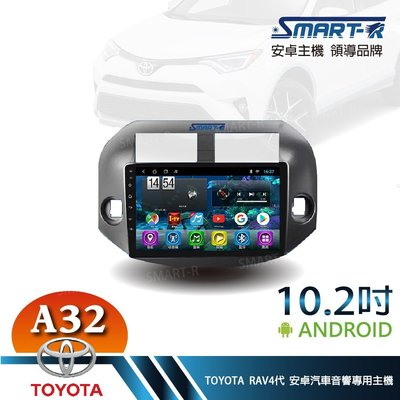 【SMART-R】TOYOTA 舊RAV4 3代 10.2吋安卓 2+32 Android 主車機 -入門四核心A32
