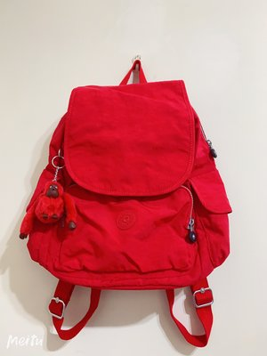 小公主♥KIPLING 紅色 猩猩 後背包
