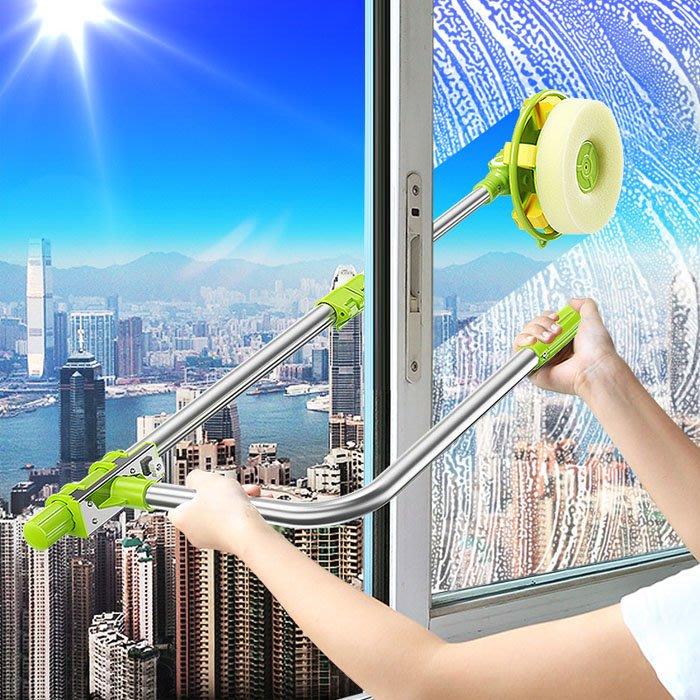 5Cgo【樂趣購】18314377623 大掃除擦玻璃器玻璃墻壁清潔器多功能伸縮杆雙層中空搽窗神器雙面家庭擦窗戶工具玻璃