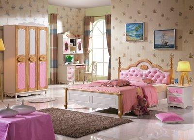 淘寶趣~淘寶代購~兒童床組~北歐風/鄉村風~實木~橡木~兒童床架~210~
