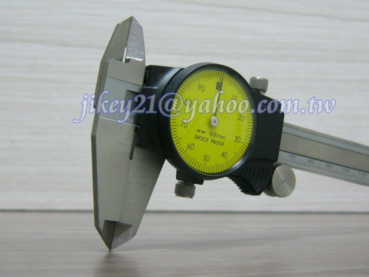 附錶卡尺150MM*0.01-$:1800免運費-( MITUTOYO 505-681可參考)
