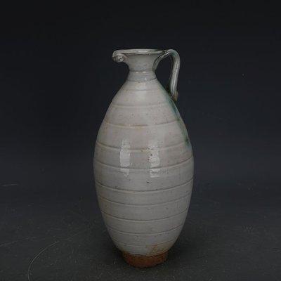 ㊣姥姥的寶藏㊣ 唐代邢窯白釉點彩手工瓷花澆壺  出土古瓷器古玩古董收藏擺件