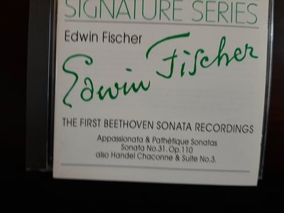 Edwin Fischer,The First Beethoven Sonata Recordings,艾德溫費雪:首次貝多芬鋼琴奏鳴曲錄音集,如新。
