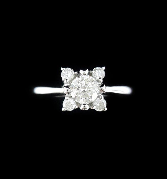 天然鑽石戒指 0.33克拉  女戒