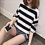 Taiwan star 韓版春夏新款短袖t恤女純棉寬鬆蝙蝠袖 正韓國連線一字領【DT8041716】【快速出貨】