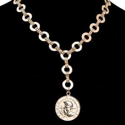 項鍊 合金 鎖骨鍊-雙面錢幣吊墜母親節生日禮物女飾品2色73uz6[獨家進口][巴黎精品]