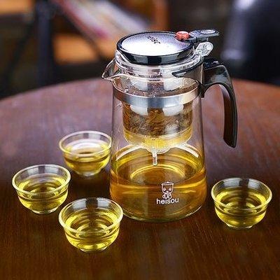 茶具 防爆可拆洗功夫泡茶壺家用沖茶器過濾內膽玻璃茶壺套裝茶具【美物居家館】
