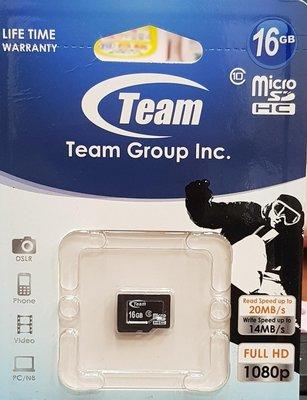 彰化手機館 16G 記憶卡 microSDHC 十銓 TF Team class10 16GB T-Flash c10
