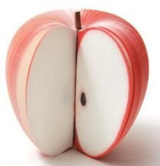 水果便條紙 便利貼 N次貼 兒童節文具 活動贈品 禮品梨子 水蜜桃 西瓜 草莓 (紅蘋果)-艾發現
