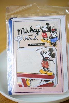 帶回~迪士尼 米奇家族系列 可留言貼紙 八款一組 米老鼠 disney ステッカー