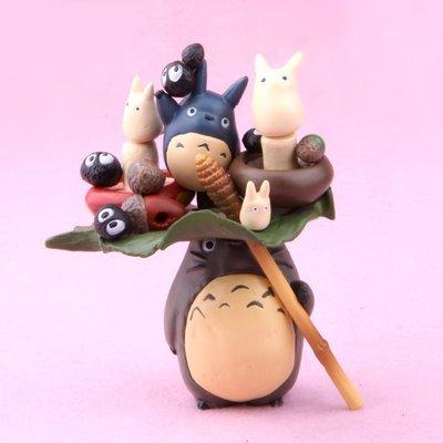 龍貓My Neighbor Totoro 疊疊樂DIY公仔手辦擺件 盒裝