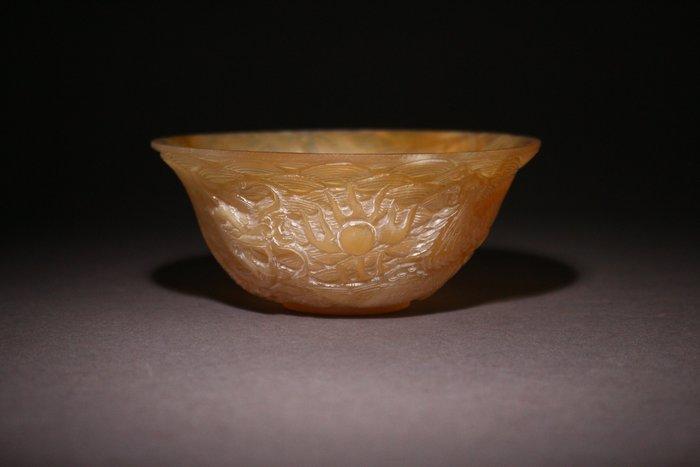 悅年堂 --- 羚羊角 龍鳳紋 碗