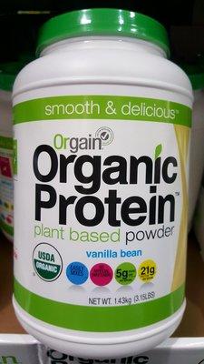 ORGAIN 有機植物性蛋白營養補充粉 香草口味 1.43公斤-吉兒好市多COSTCO代購