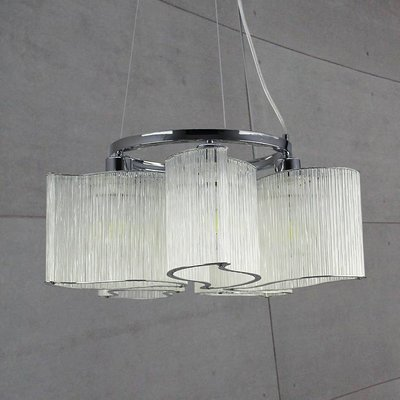 【58街_台北館】「Glass deformed 玻璃管炫窩吊燈」美術燈。複刻版。GH-527