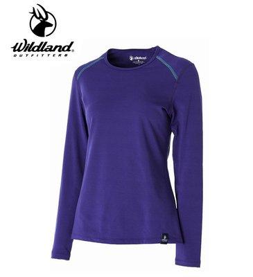 丹大戶外用品【WILDLAND】荒野 女輕量抗菌親膚保暖衣 型號 0A52665-53 紫色