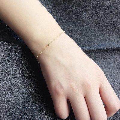 Lissom韓國代購~e 家懶人925銀小球球珠鍊手鍊日正韓個性時尚正韓氣質手腕飾品潮