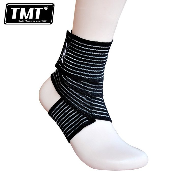 奇奇店#TMT拳擊護踝散打泰拳跆拳道格斗護腳套搏擊護具纏繞運動繃帶綁帶