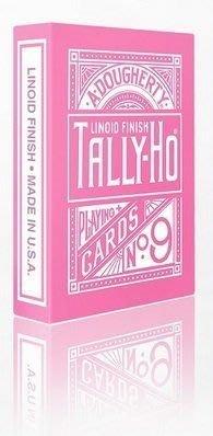 【USPCC撲克】TALLY-HO PINK ROSE V2 反粉紅圓背 撲克牌