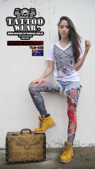 澳洲原創紋身衣著ORIGINAL TATTOO WEAR 100%防曬紋身褲 運動長褲 瑜珈褲 壓力褲 (非紋身袖套)
