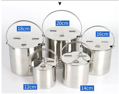 冰桶 加厚不銹鋼翻蓋式糖水桶手提冰桶湯桶奶茶桶飲料桶外出便攜冷飲桶mks