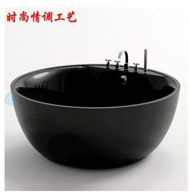 推薦進口雙層亞克力圓形獨立浴缸大尺寸雙人酒店時尚浴盆澡盆 WJ