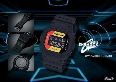 柚子的拍賣 CASIO G-SHOCK  x THE HUNDREDS 聯名 黑 黃 紅 DW-5600HDR-1ADR