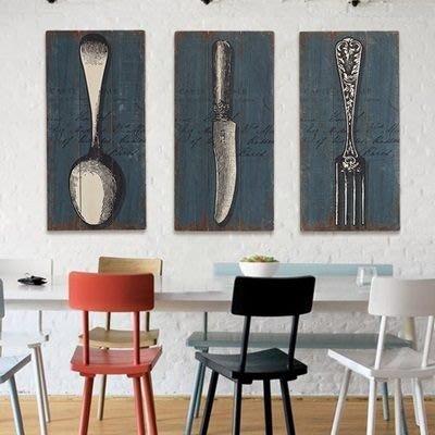 掛飾 壁掛 擺件-復古實木餐具木板畫居家擺飾用品3款73a11[獨家進口][巴黎精品]