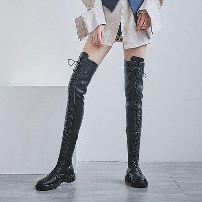 Fashion*超顯瘦!過膝靴 前系帶...
