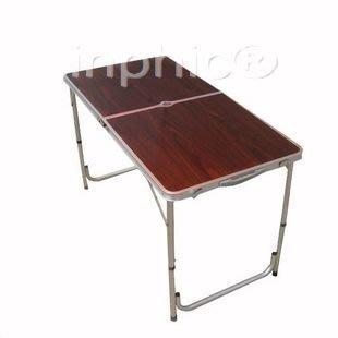 INPHIC-120x60cm便攜式產品展示桌 加厚桌面鋁合金野餐桌子折疊桌