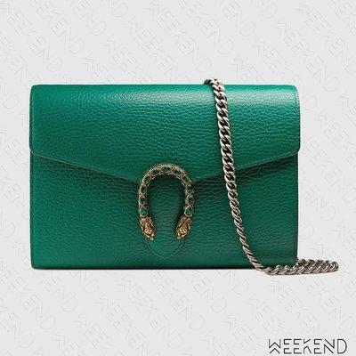 【WEEKEND】 GUCCI Dionysus Mini Chain 迷你 皮夾 肩背包 綠色 401231
