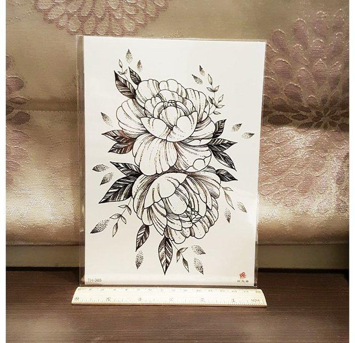 【萌古屋】線條花朵TH-385 - 男女防水紋身貼紙刺青貼紙