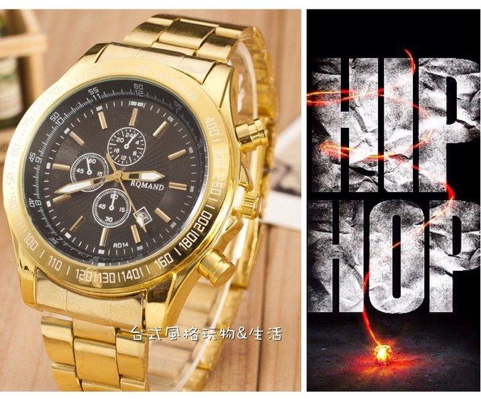 大金錶街頭HIP HOP嘻哈台客超大金錶黑金錶