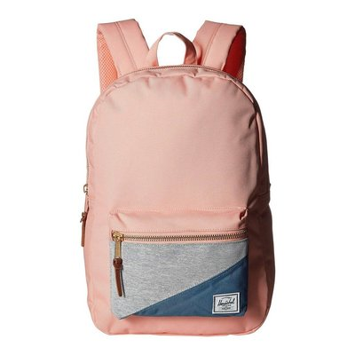 Herschel Settlement 中型 粉色 灰色 水藍 金屬拉鍊 筆電夾層 女生 後背包 [現貨]