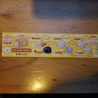 燈泡豬 可愛造型 扭蛋 掛飾 每款連 迷你瓦通紙箱 一套6款 全新