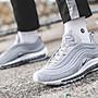 Nike Air Max 97 灰色 銀色 藍勾 銀彈 滿版...