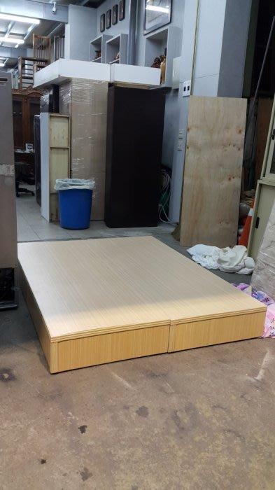 樂居二手家具*B1125AJJG 白橡木色雙人床箱*床底 床架 5尺床箱 五尺床底 二手寢具家具買賣/床頭櫃/床墊