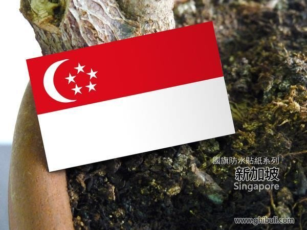 【國旗貼紙專賣店】新加坡國旗貼紙/機車/汽車/抗UV/防水/Singapore/各國家、各尺寸都有賣