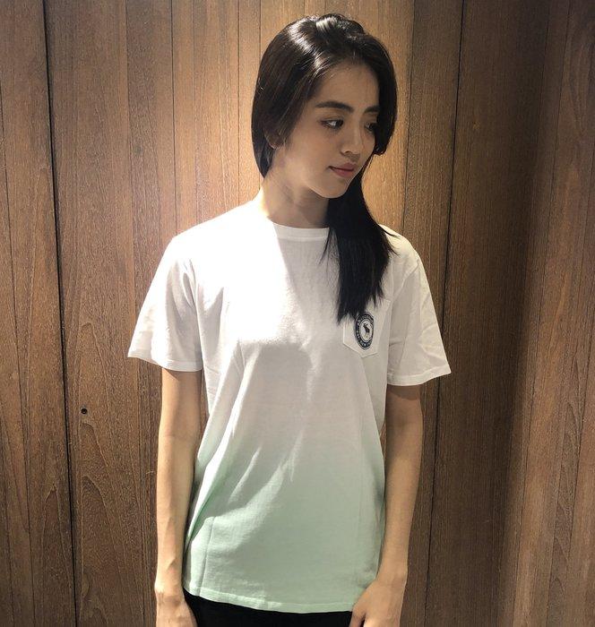 美國百分百【Abercrombie & Fitch】T恤 AF 短袖 大麋鹿 口袋 女 男 白色淺綠 XS號 I356