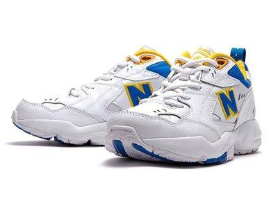 New Balance 608 復古 慢跑鞋 老爹鞋 韓國 NB608 黃藍 白 運動休閒鞋 男女尺寸