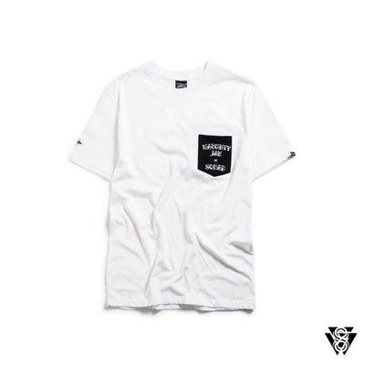 (MARVELOUS) SQUAD X 淘野頑 刺青聯名系列 口袋 老鷹刺青圖騰T-SHIRT 白色 黑色