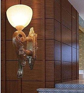 {美學}工程歐式壁燈樹脂會所床頭過道客...
