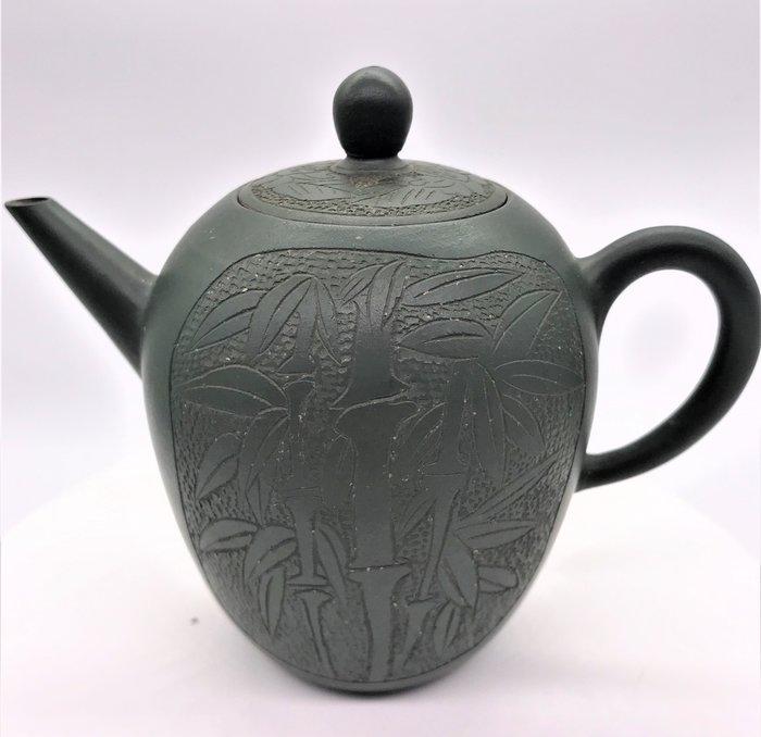 早期甕型綠泥茶壺老茶壺(荊溪惠孟臣制)